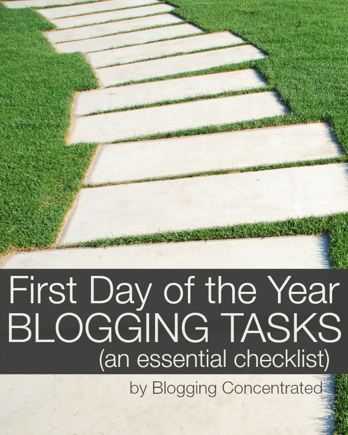 FirstDayYearBloggingTasks